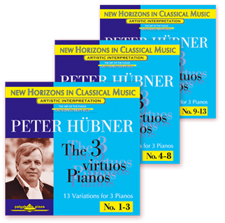 Peter Hübner - The 3 Virtuos Pianos
