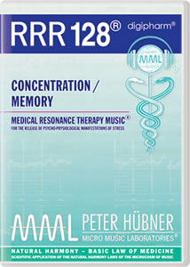 Peter Hübner - Medical Resonance Therapy Music<sup>®</sup> - RRR 128 Concentration / Memory