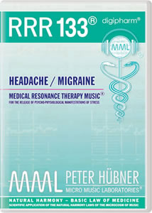 Peter Hübner - Medical Resonance Therapy Music® - Headache / Migraine - RRR 133