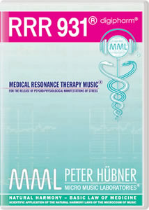 Peter H&uuml;bner - Medical Resonance Therapy Music<sup>&#174;</sup> - RRR 931