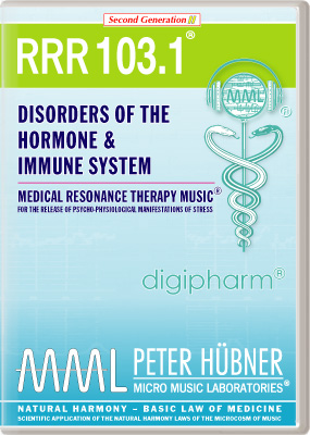 Peter H&uuml;bner - Medical Resonance Therapy Music<sup>&#174;</sup> - RRR 103 Disorders of the Hormone &amp; Immune System &#8226; Nr.&nbsp;1