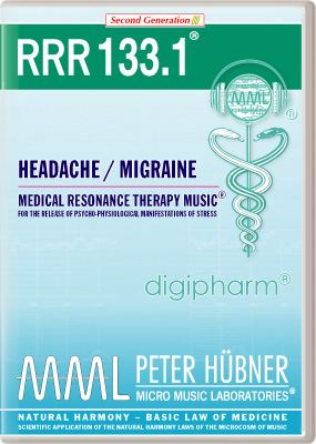 Peter Hübner - Medical Resonance Therapy Music<sup>®</sup> - RRR 133 Headache / Migraine • Nr. 1