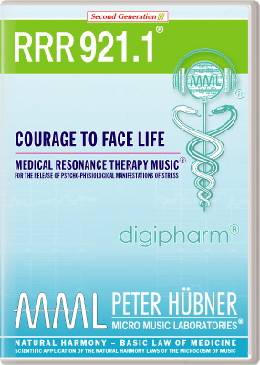 Peter H&uuml;bner - Medical Resonance Therapy Music<sup>&#174;</sup> - RRR 921 Courage to Face Life &#8226; Nr.&nbsp;1