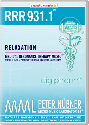 Peter H&uuml;bner - Medical Resonance Therapy Music<sup>&#174;</sup> - RRR 931 Relaxation &#8226; Nr.&nbsp;1