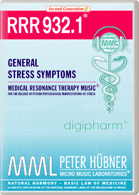 Peter Hübner - Medical Resonance Therapy Music<sup>®</sup> - RRR 932 General Stress Symptoms • Nr. 1