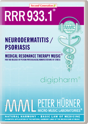 Peter H&uuml;bner - Medical Resonance Therapy Music<sup>&#174;</sup> - RRR 933 Neurodermatitis / Psoriasis &#8226; Nr.&nbsp;1