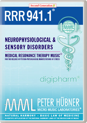 Peter H&uuml;bner - Medical Resonance Therapy Music<sup>&#174;</sup> - RRR 941 Neurophysiological &amp; Sensory Disorders &#8226; Nr.&nbsp;1