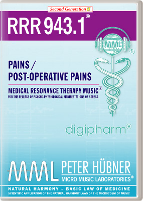 Peter H&uuml;bner - Medical Resonance Therapy Music<sup>&#174;</sup> - RRR 943 Pains / Post-Operative Pains &#8226; Nr.&nbsp;1