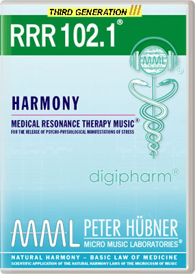 Peter H&uuml;bner - Medical Resonance Therapy Music<sup>&#174;</sup> - RRR 102 Harmony &#8226; No.&nbsp;1
