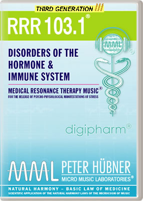 Peter H&uuml;bner - Medical Resonance Therapy Music<sup>&#174;</sup> - RRR 103 Disorders of the Hormone &amp; Immune System &#8226; No.&nbsp;1