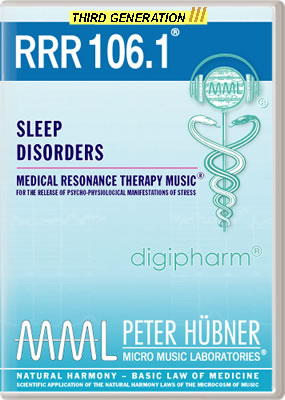 Peter H&uuml;bner - Medical Resonance Therapy Music<sup>&#174;</sup> - RRR 106 Sleep Disorders &#8226; No.&nbsp;1