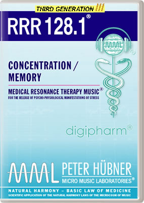 Peter H&uuml;bner - Medical Resonance Therapy Music<sup>&#174;</sup> - RRR 128 Concentration / Memory &#8226; No.&nbsp;1