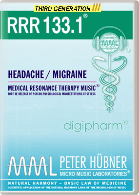 Peter H&uuml;bner - Medical Resonance Therapy Music<sup>&#174;</sup> - RRR 133 Headache / Migraine &#8226; No.&nbsp;1