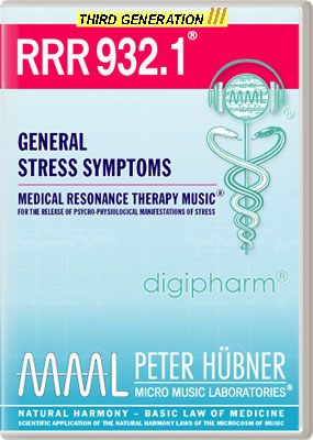 Peter Hübner - Medical Resonance Therapy Music<sup>®</sup> - RRR 932 General Stress Symptoms • No. 1