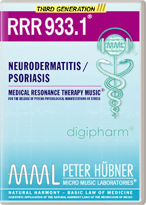 Peter Hübner - Medical Resonance Therapy Music<sup>®</sup> - RRR 933 Neurodermatitis / Psoriasis • No. 1