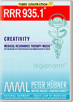 Peter H&uuml;bner - Medical Resonance Therapy Music<sup>&#174;</sup> - RRR 935 Creativity &#8226; No.&nbsp;1