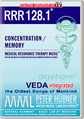 Peter Hübner - Medical Resonance Therapy Music<sup>®</sup> - RRR 128 Concentration / Memory • No. 1