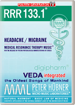 Peter Hübner - Medical Resonance Therapy Music<sup>®</sup> - RRR 133 Headache / Migraine • No. 1