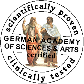 certified by German Academy of Sciences & Arts